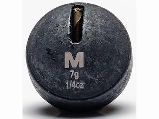 Mustad Round Weight 1/4oz Tungsten Black 3Pk