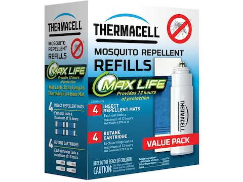 Thermacell Mosquito Repellent Max Life Refill Pack (Butane .42 oz Pack of 4 and Repelle...