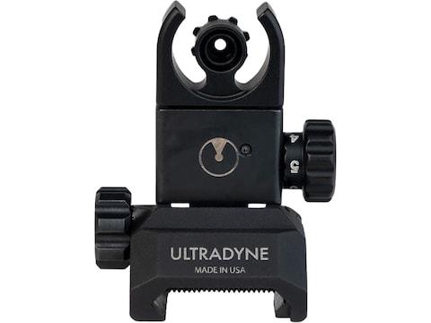 Ultradyne C4 Flip-Up Rear Sight LR-308 Aluminum Black