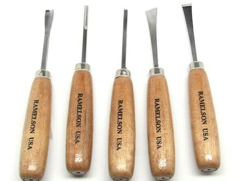 Ramelson 106 5-Piece Woodcarving Tool Set with Straight-Style Handles