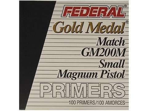 Federal Premium Gold Medal Small Pistol Magnum Match Primers #200M Box of 1000 (10 Tray...