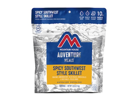 Mountain House Spicy Southwest Style Skillet Gluten Free Freeze Dried Food 2 Serving