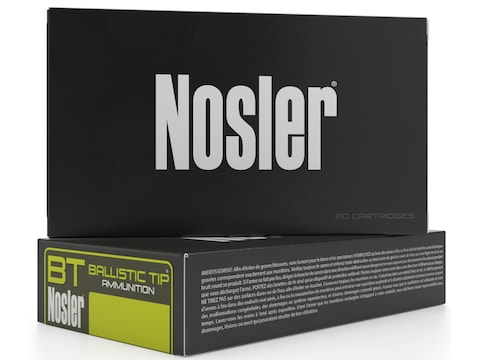 Nosler BT Ammunition 270 Winchester 130 Grain Ballistic Tip Box of 20