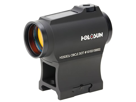 Holosun HS503CU Paralow Red Dot Sight 1x 20mm 65 MOA Circle with 2 MOA Dot Picatinny- S...
