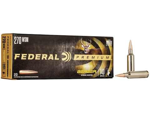 Federal Factory Second Ammunition 270 Winchester Short Magnum (WSM) 140 Grain Berger Hy...