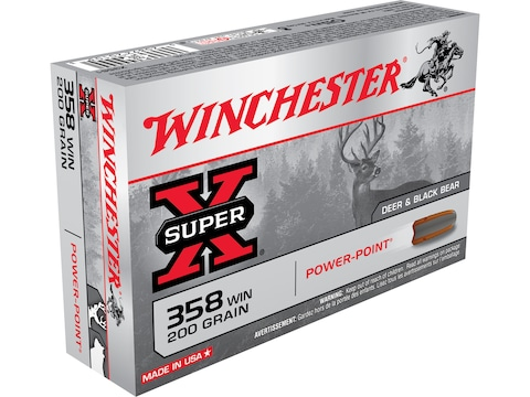 Winchester Super-X Ammunition 358 Winchester 200 Grain Power-Point