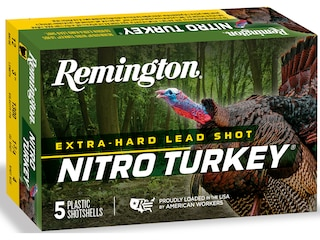 "Remington Nitro Turkey Ammunition 12 Gauge 3-1/2"" 2 oz #4 Buffered Shot Box of 5"