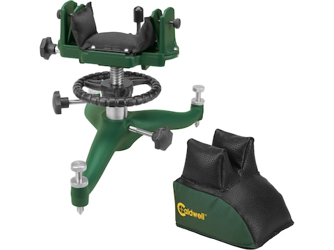 Caldwell Rock BR Competition Rifle Front Shooting Rest with Deluxe Rear Shooting Bag