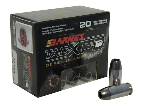 Barnes TAC-XPD Ammunition 40 S&W 140 Grain TAC-XP Hollow Point Lead-Free Box of 20
