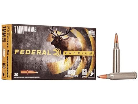Federal Premium Ammunition 7mm Remington Magnum 160 Grain Nosler Partition