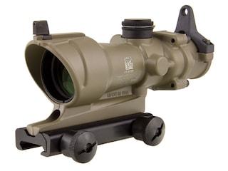 Trijicon ACOG TA01-D Rifle Scope 4x 32mm Tritium Illuminated Amber Crosshair 223 Remington Reticle with Iron Sights and TA51 Flattop Mount Cerakote Flat Dark Earth