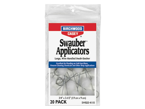 Birchwood Casey Swauber Applicators Pack of 20