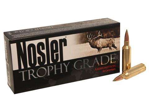 Nosler Trophy Grade Ammunition 270 Winchester Short Magnum (WSM) 130 Grain E-Tip Lead-F...