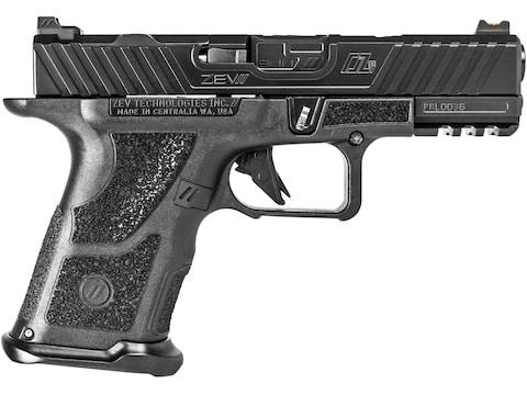 """ZEV Technologies OZ9 Compact Pistol 9mm Luger 4"""" Black Barrel 15-Round Black Slide, Bla..."""
