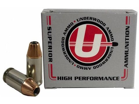 Underwood Ammunition 380 ACP 90 Grain Hornady XTP Jacketed Hollow Point Box of 20