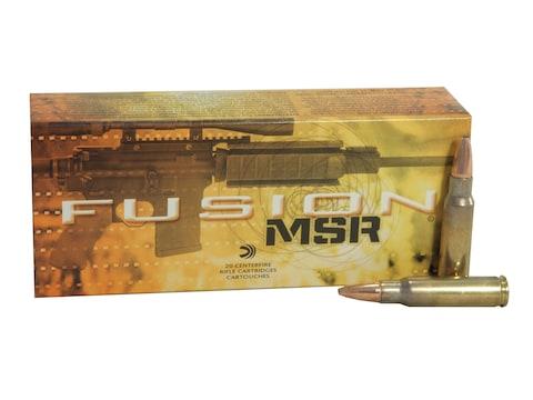 Federal Fusion MSR Ammunition 6.8mm Remington SPC 90 Grain Bonded Spitzer Boat Tail