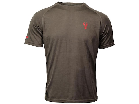 Badlands Men's Mutton Lightweight Base Layer Short Sleeve Shirt Merino Wool Stone