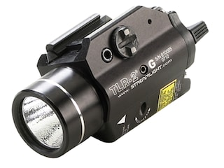 Streamlight TLR-2G Weapon Light LED with Green Laser and 2 CR123A Batteries Fits Picatinny or Glock-Style Rails Aluminum Matte