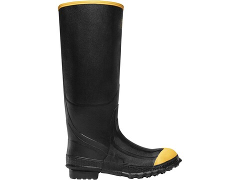 "LaCrosse Premium 16"" Steel Toe Work Boots Rubber Black Men's"