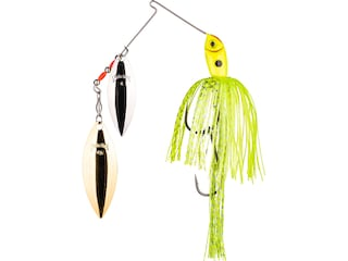 Strike King Premier Plus Double Willow Spinnerbait 1/2oz Super Chartreuse Silver/Gold