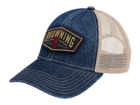 Browning Men's Slack Snapback Cap Denim
