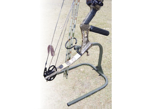 HME Archer's Practice Stand Bow Holder Steel Green