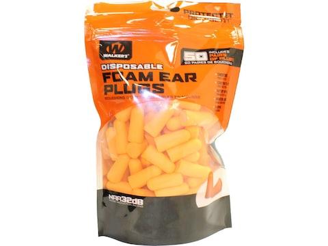 Walker's Foam Ear Plugs (NRR 32dB) Orange