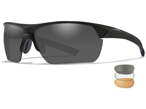Wiley X Guard Advanced Changeable Series Shooting Glasses Matte Black Frame Smoke Gray,...