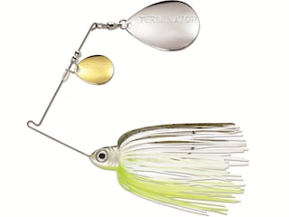Terminator Pro Series Double Colorado Spinnerbait 3/8oz Hot Olive Gold/Nickel
