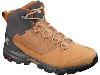 Salomon Outward GTX Hiking Boots Leather/Synthetic Tobacco Brown/Phantom/Caramel Cafe Men's 8 D