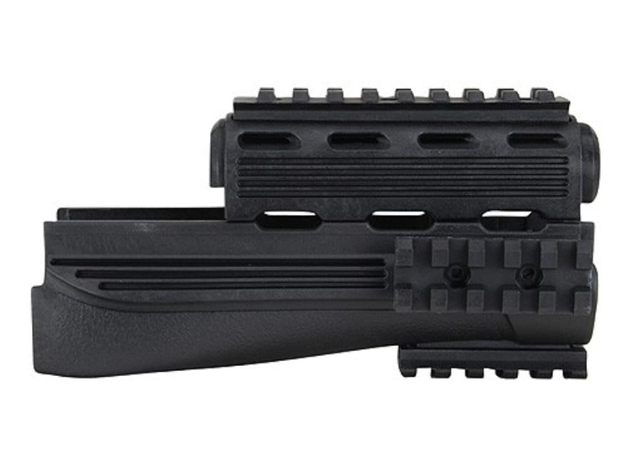 NcSTAR MT7.62 x 39mm Receiver Cover Weaver Tri Rail Mount Black
