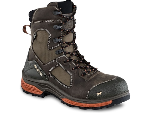 "Irish Setter Kasota 8"" Waterproof Non-Metallic Safety Toe Work Boots Men's"
