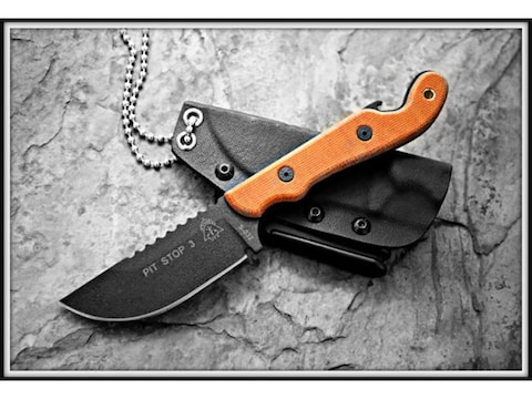 """TOPS Knives Pit Stop 3 Fixed Blade Knife 3"""" Hunters Point 1095 High Carbon Alloy Blade ..."""