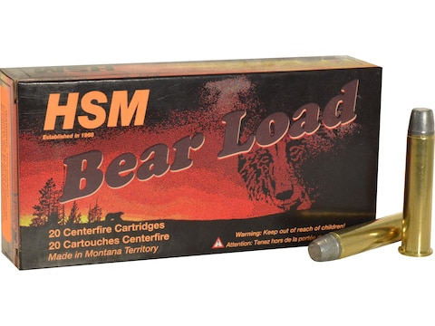 HSM Bear Ammunition 45-70 Government 430 Grain Lead Round Nose Flat Point Gas Check Box...
