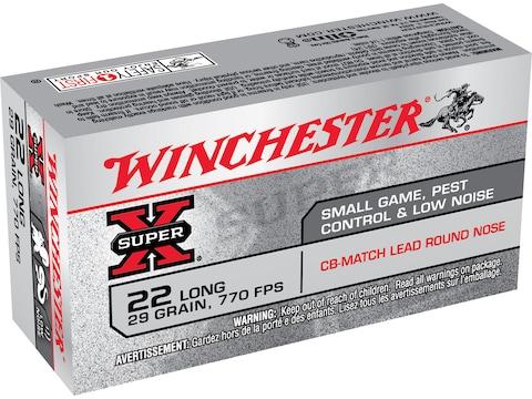 Winchester Super-X Ammunition 22 Long 29 Grain CB Match Box of 50