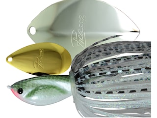Picasso Tandem Thunder Willow Spinnerbait 1/2oz Gizzard Shad Gold/Nickel
