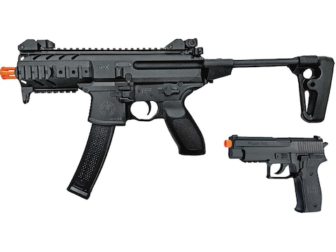 Sig Sauer MPX, P226 Spring Powered Airsoft Rifle & Pistol Kit