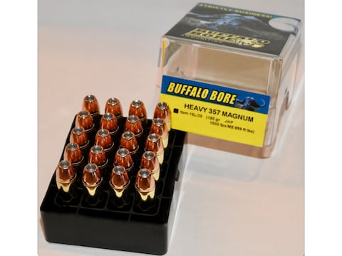 Buffalo Bore Ammunition 357 Magnum 180 Grain Jacketed Hollow Point Box of 20