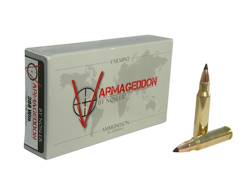 Nosler Varmageddon Ammunition 308 Winchester 110 Grain Polymer Tip Flat Base Box of 20