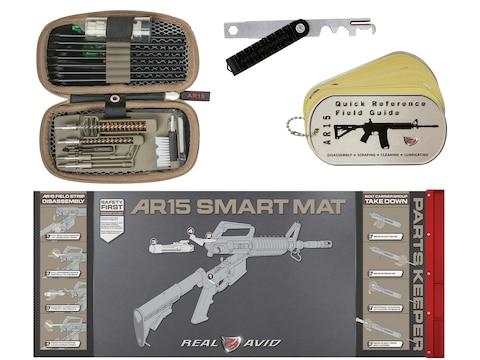 Real Avid AR-15 Cleaning Kit with Scraper, Gun Boss, Smart Mat & Field Guide