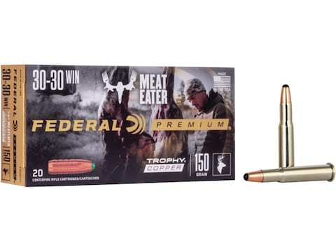 Federal Premium Ammunition 30-30 Winchester 150 Grain Trophy Copper Tipped Boat Tail Le...
