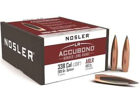 Nosler AccuBond Long Range Bullets 338 Caliber (338 Diameter) 265 Grain Bonded Spitzer ...