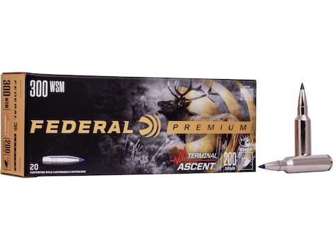 Federal Premium Terminal Ascent Ammunition 300 Winchester Short Magnum (WSM) 200 Grain ...