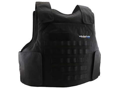 BulletSafe Tactical Bulletproof Vest Body Armor Level IIIA Black