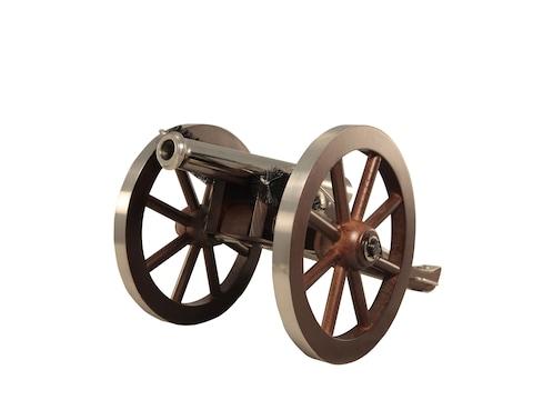 "Traditions Mini Napoleon III Black Powder Cannon 50 Caliber 7.25"" Nickel Plated Barrel ..."