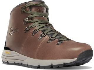 "Danner Mountain 600 4.5"" Hiking Boots Full-Grain Leather Walnut/Green Men's 10.5 D"