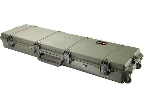 """Pelican Storm iM3300 Scoped Rifle Case with Solid Foam Insert and Wheels 53"""" Polymer"""
