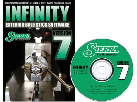 "Sierra ""Infinity Exterior Ballistic Software Version 7"" CD-ROM"