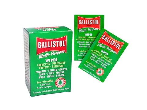 Ballistol Multi-Purpose Cleaning and Lubricating Gun Wipes Pack of 10