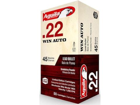 Aguila Ammunition 22 Winchester Auto 45 Grain Lead Round Nose